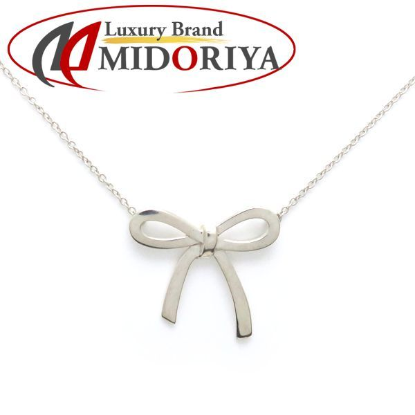 553e1a513 Tiffany TIFFANY bow tie pendant ribbon necklace SV925 pendant /098468 ...