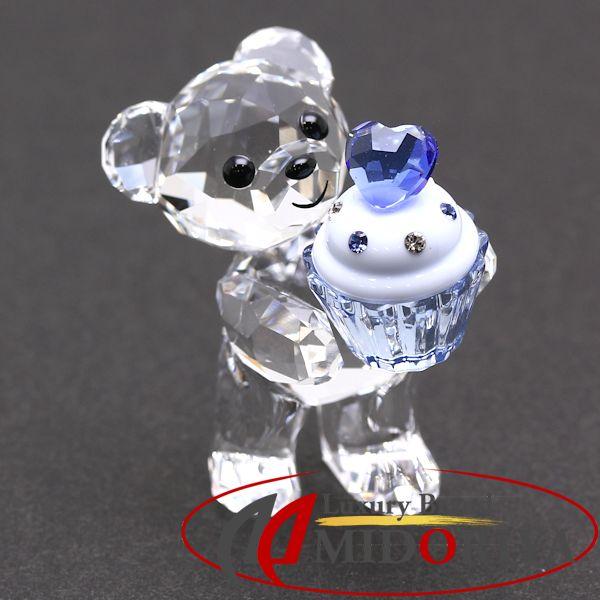 スワロフスキー SWAROVSKI Kris Bear Blue Cupcake クリスベア カップケーキ 5051769 フィギュリン クリスタル 置物 /043126 【未使用】