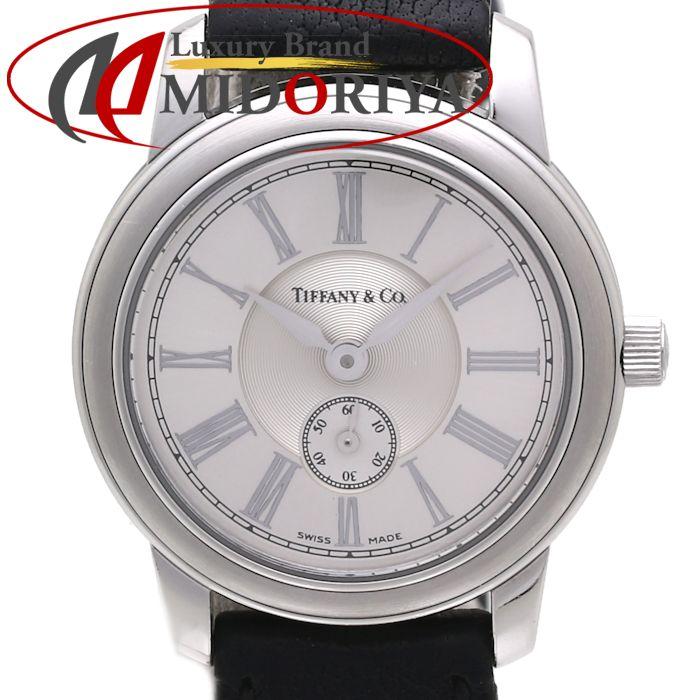 ティファニー Tiffany & Co. マークラウンド SS/革 レディース クオーツ /35478 【中古】 腕時計