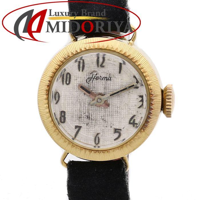 YG無垢 レディース 手巻き アンティーク /35529 【中古】腕時計