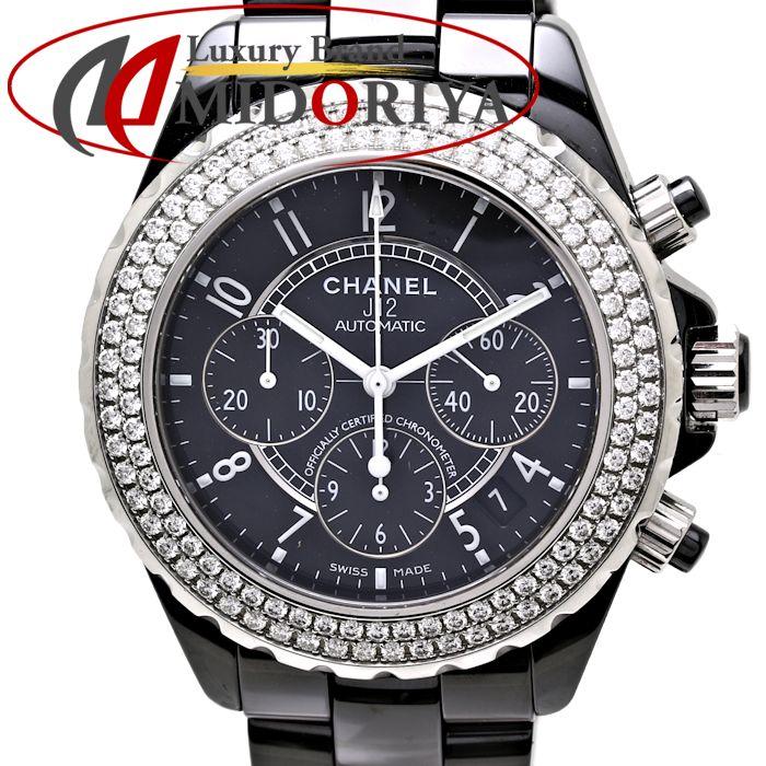29b6fdeafbdf Chanel CHANEL J12 automatic chronograph diamond bezel H1009 men  35532 watch