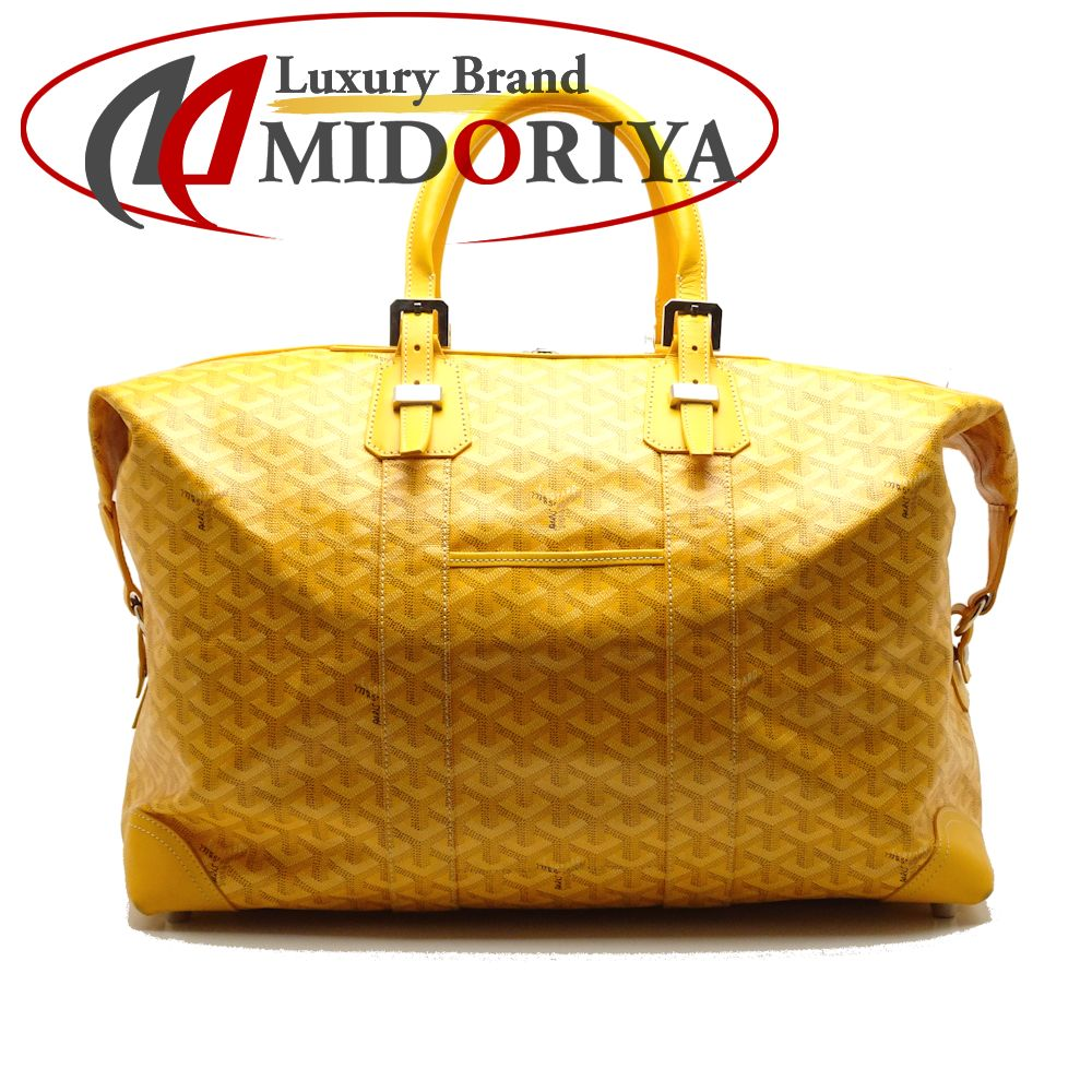 0f2a6f6297d8 Authentic GOYARD Boeing 45 Boston Bag PVC x Calf Yellow /052013 FREE  SHIPPING ...
