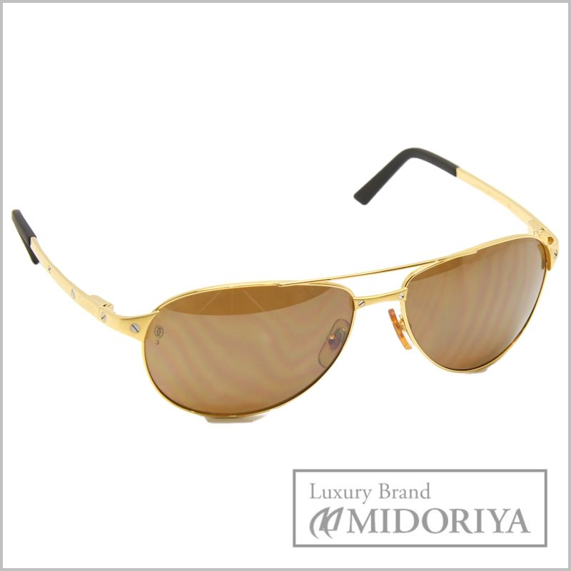 b4b0168c57d ... Pawn shop MIDORIYA PHASE Cartier sunglasses Santos Dumont 61 16 Cartier  sunglasses Santos Dumont 61 16 T820081 48802 glasses Cartier limited edition  ...