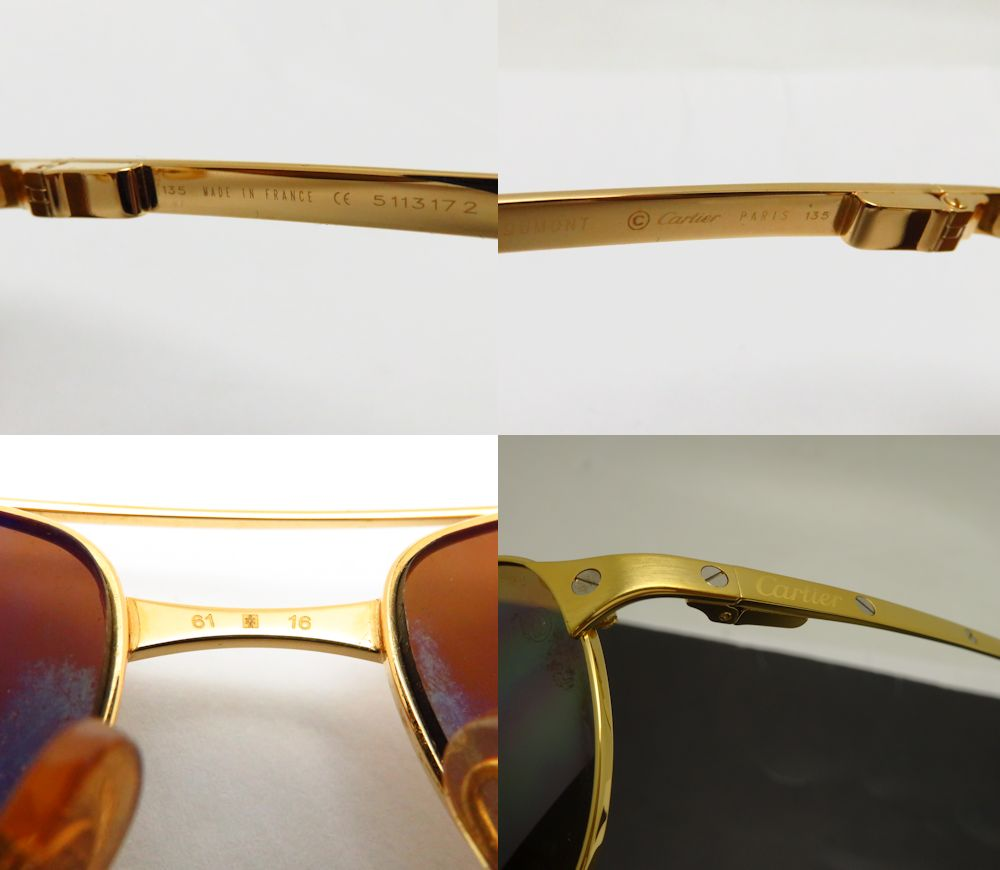 e793215a86f ... T820081 48802 Glasses Limited Edition. Midoriya Phase Cartier  Sunglasses Santos Dumont 61 16