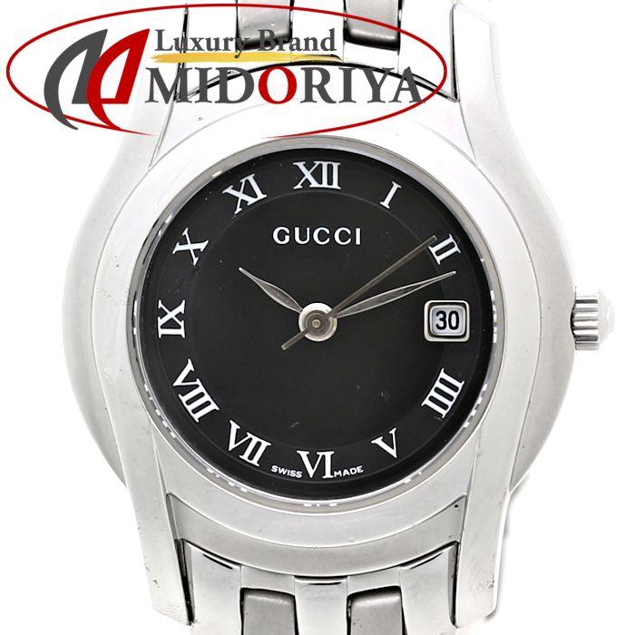 グッチ GUCCI ブラック文字盤 5500L SS レディース クォーツ /35559 【中古】腕時計
