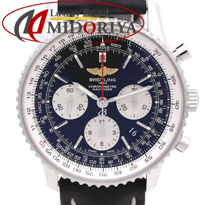 【スーパーSALE限定価格】ブライトリング BREITLING ナビタイマー 01 A022B01KBA ブラック文字盤 メンズ レザー /35606 【中古】 腕時計