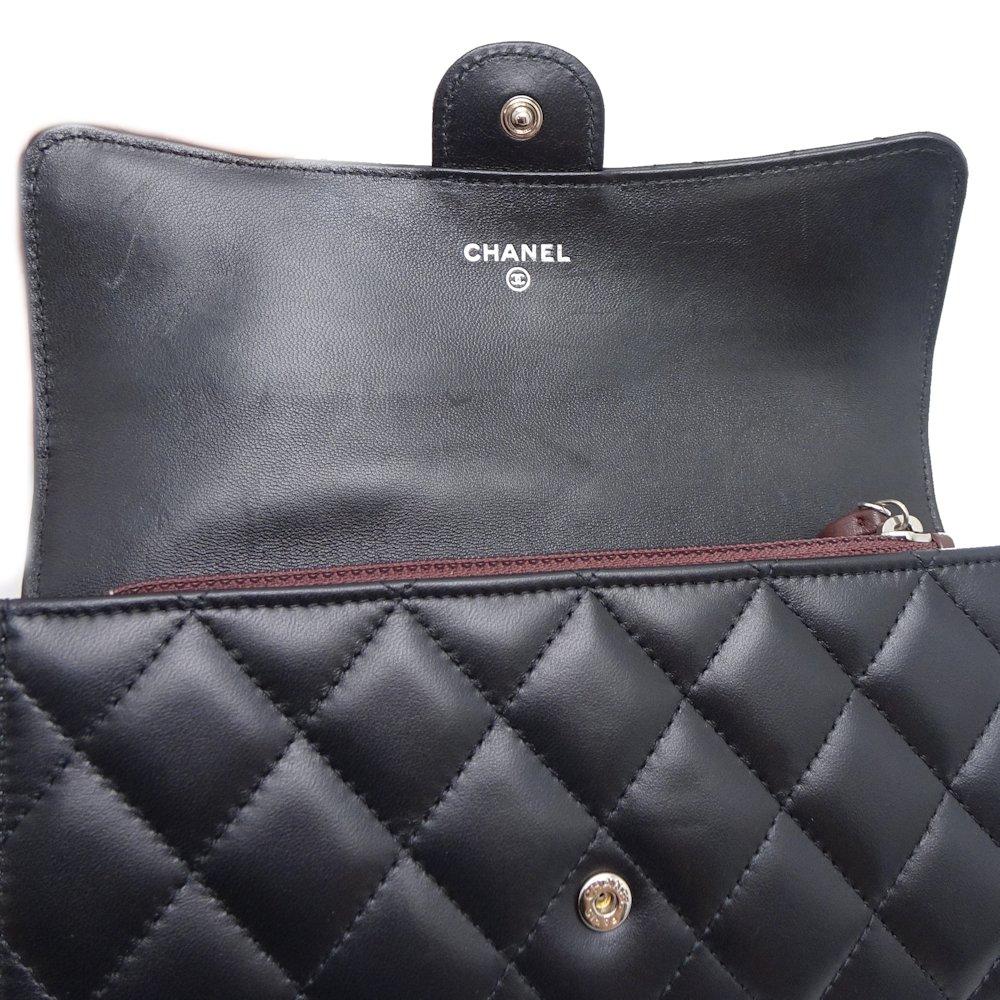 0955efb48132 Chanel CHANEL long wallet classical music flap wallet lambskin black ☆  unused A80758  043423