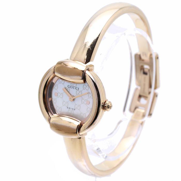 2874dda3520 Authentic GUCCI Pink Gold Plated Bangle 1400L YA014516 Women s Watch 35653  FREE SHIP