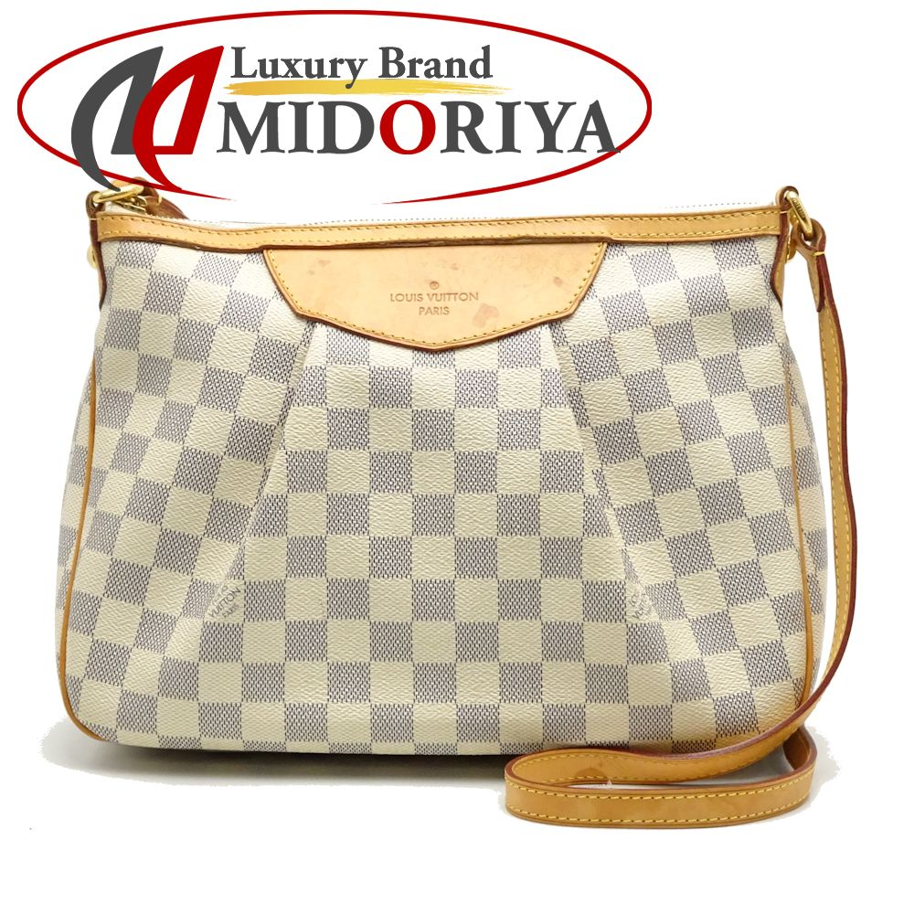 078b351f9557 Authentic LOUIS VUITTON Damier Azur Siracusa PM Shoulder Crossbody Bag  N41113  052546 FREE SHIPPING