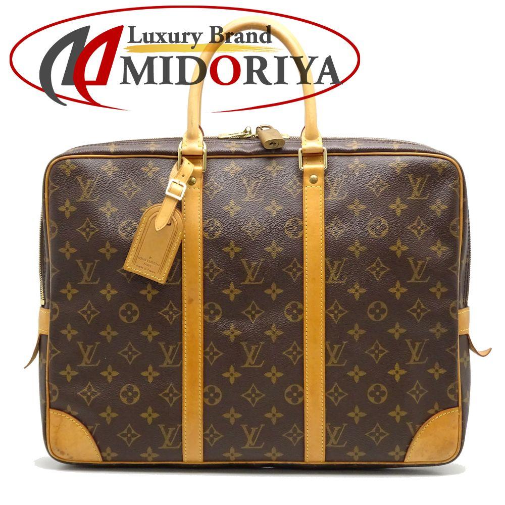 3e3e461deb Authentic LOUIS VUITTON Monogram Porte Document Voyage Business Bag M40226  Brown /052554 FREE SHIP