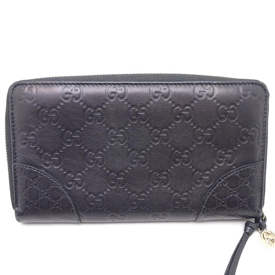 ca7f74feb9e545 Authentic GUCCI Zip Around Wallet Guccissima Leather Black 323397/ 043855  FREE SHIPPING