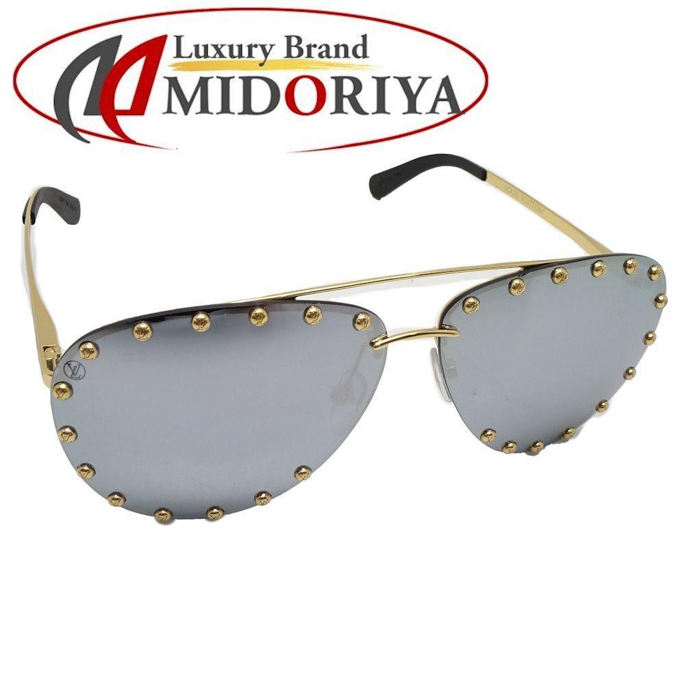 dad45ea544f Authentic LOUIS VUITTON The Party Square Studs Sunglasses 62 □ 11 140 Metal  Z0923U  043961 FREE SHIPPING