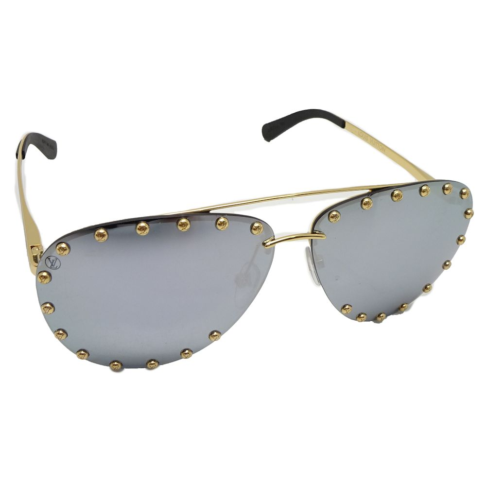 38fb04fdccad Pawn shop MIDORIYA PHASE  Authentic LOUIS VUITTON The Party Square Studs  Sunglasses 62 □ 11 140 Metal Z0923U  043961 FREE SHIPPING