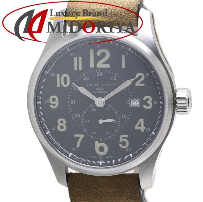 ハミルトン カーキ HAMILTON KHAKI H70655733 フィールド オフィサー 44mm ヌバック /35718 【中古】 腕時計