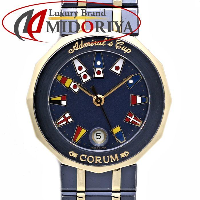 CORUM コルム アドミラルズカップ ガンブルー 39.610.31 V052 レディース クォーツ /35741 【中古】 腕時計