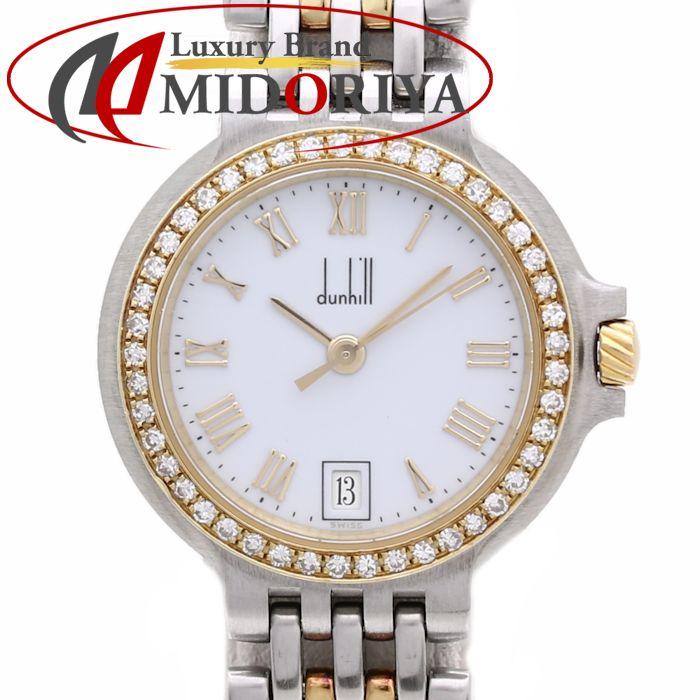 ダンヒル DUNHILL エリート YG/SSコンビ ベゼルダイヤモンド レディース /35752 【中古】 腕時計