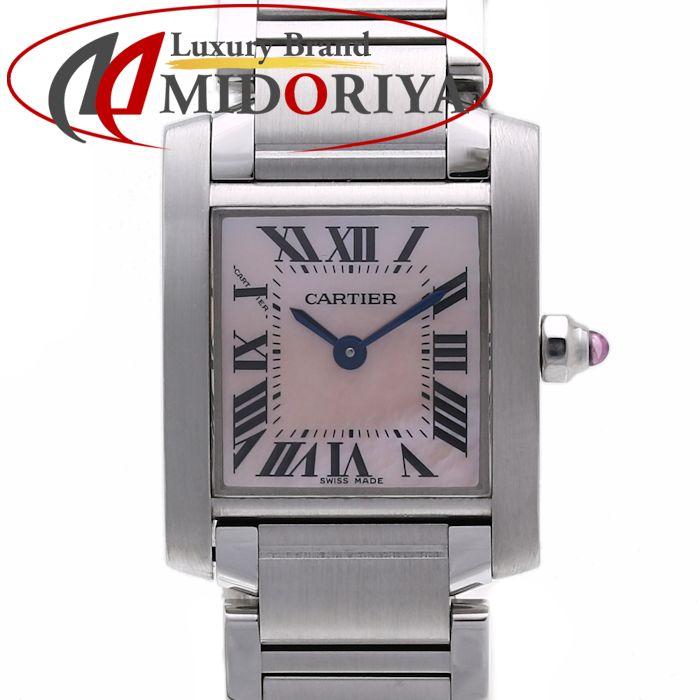 【スーパーSALE限定価格】カルティエ Cartier タンクフランセーズ SM ピンクシェル W51028Q3 クォーツ レディース /35828【中古】 腕時計