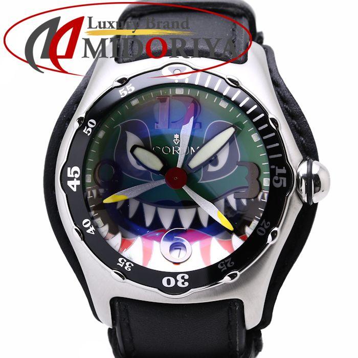 【スーパーSALE限定価格】CORUM コルム バブル ダイブ ボンバーシャーク 2004年限定モデル 082.180.20 自動巻き メンズ /35858【中古】 腕時計