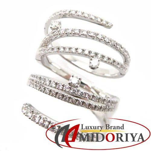 ダイヤモンドリング ダイヤモンド1.14ct K18WG 19号 18金ホワイトゴールド 指輪/63239【中古】