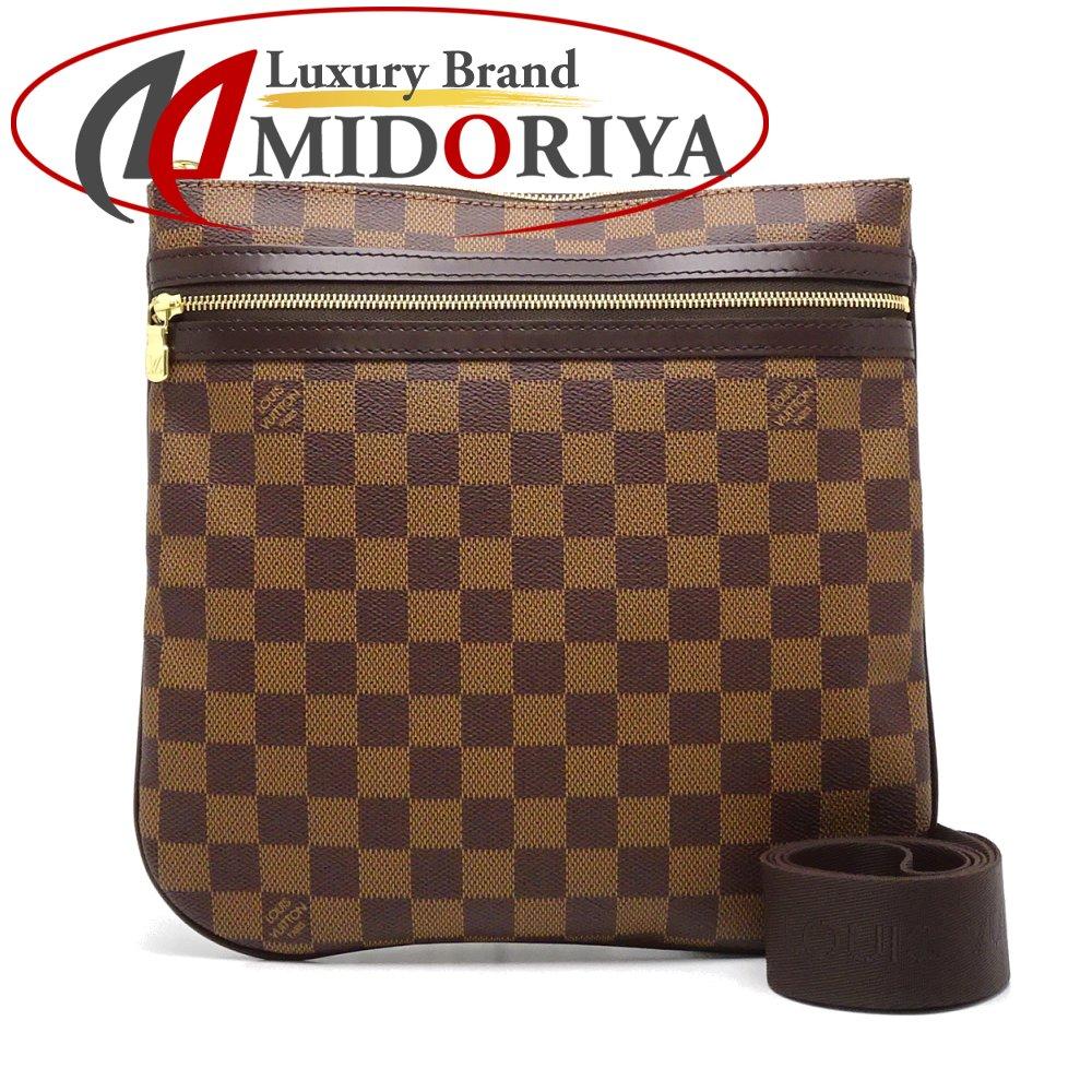 57ffba99e22a Authentic LOUIS VUITTON Damier Ebene Pochette Bosphore Shoulder Crossbody  Bag N51111  052714 FREE SHIPPING