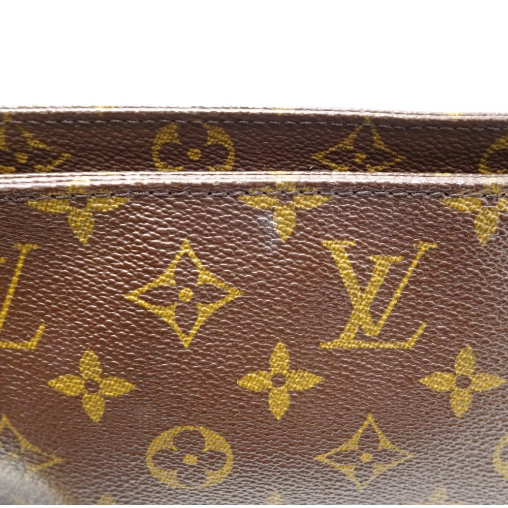 ffa1c388c9da Authentic LOUIS VUITTON Monogram Trotter Shoulder Crossbody Bag M51240 Brown   052793 FREE SHIPPING
