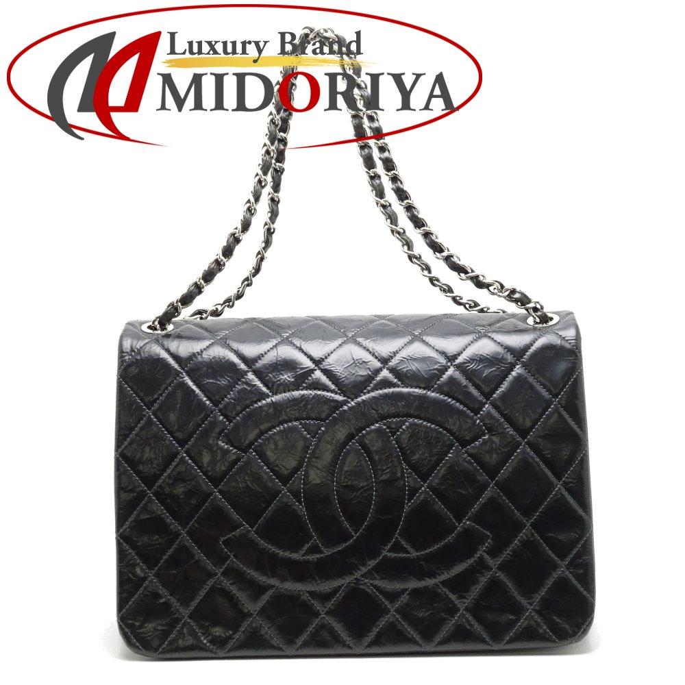 d4cf9a804363 Chanel CHANEL chain tote bag matelasse patent leather black black  052801