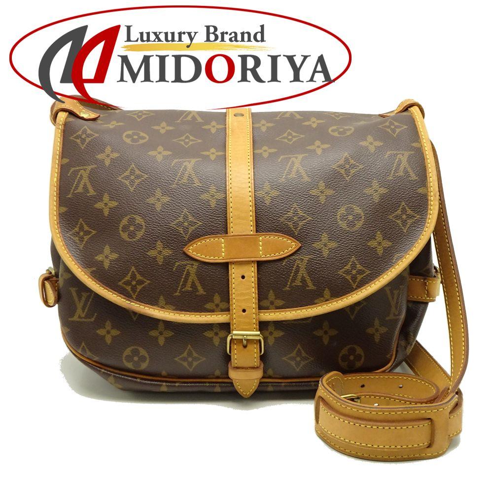 af768c1093b6 Authentic LOUIS VUITTON Monogram Saumur 30 Shoulder Crossbody Bag M42256  Brown  052876 FREE SHIPPING