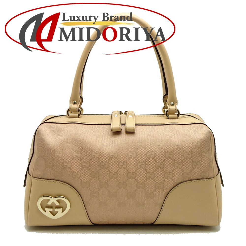 d1ed334dc1e1 Authentic GUCCI Lovely Line GG Pattern Mini Boston Handbag 257067 Pink  /052889 FREE SHIPPING
