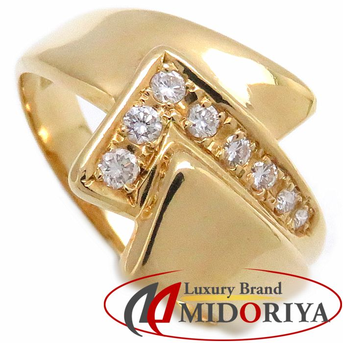 K18YG ダイヤモンドリング 0.20ct 18.5号 イエローゴールド 指輪/63297【中古】P_10