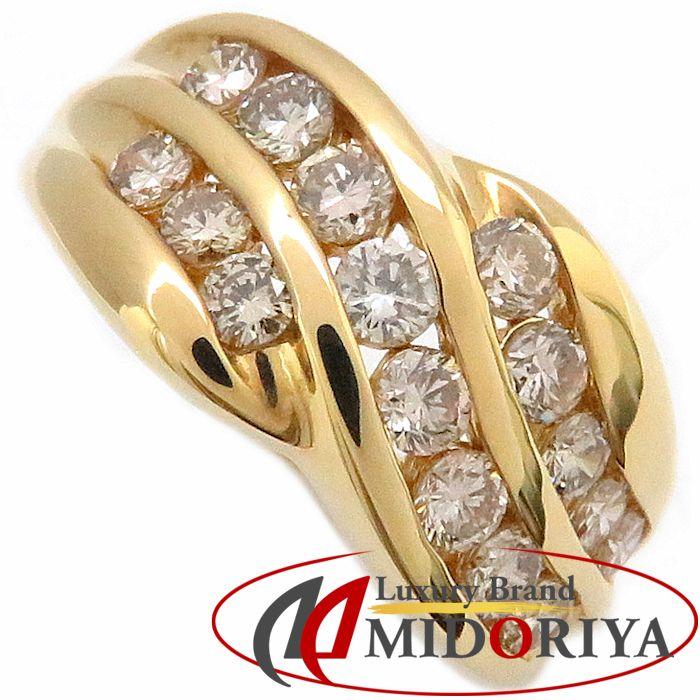 K18YG ダイヤモンドリング 1.10ct 11.5号 イエローゴールド 指輪/63304【中古】P_10
