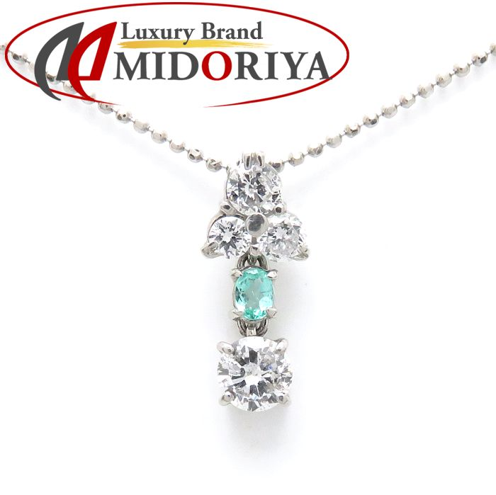 ネックレス トルマリン ダイヤモンド Pt900x850 ダイヤモンド 0.96ct プラチナ ペンダント/72104【中古】