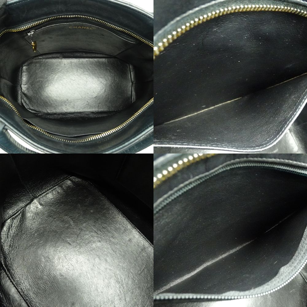 b4aef055fa97 Authentic CHANEL Medallion Tote Bag A01804 Lambskin Black  052962 FREE  SHIPPING