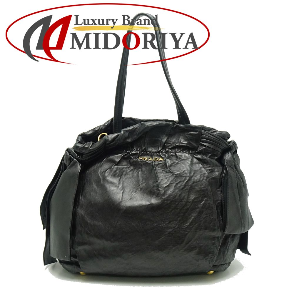 f4d754a43654 Pawn shop MIDORIYA PHASE  Prada PRADA BN1760 2WAY tote bag lambskin ...