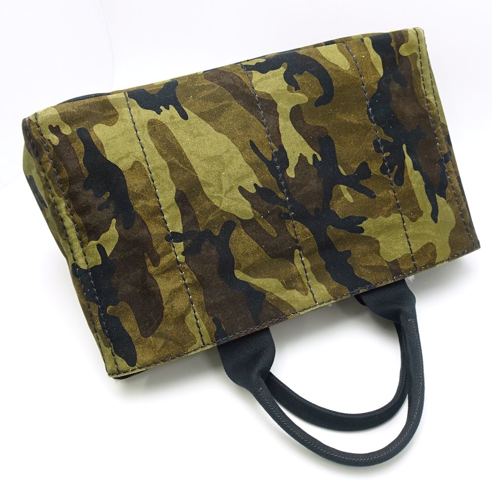 514f38cd3342 Authentic PRADA Canapa Tote Bag BN2020 Canvas MIMETICO Camouflage /053131  FREE SHIPPING