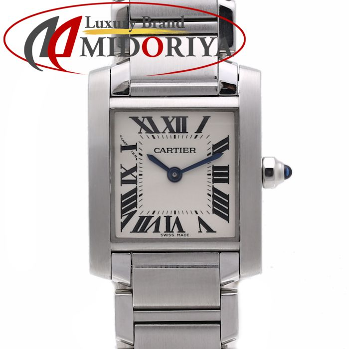 CARTIER カルティエ W51008Q3 タンクフランセーズSM シルバー レディース /35882【中古】 腕時計