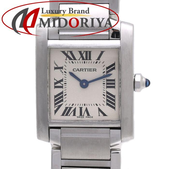 CARTIER カルティエ W51008Q3 タンクフランセーズSM シルバー レディース /35890【中古】【外装磨き仕上げ済み】腕時計