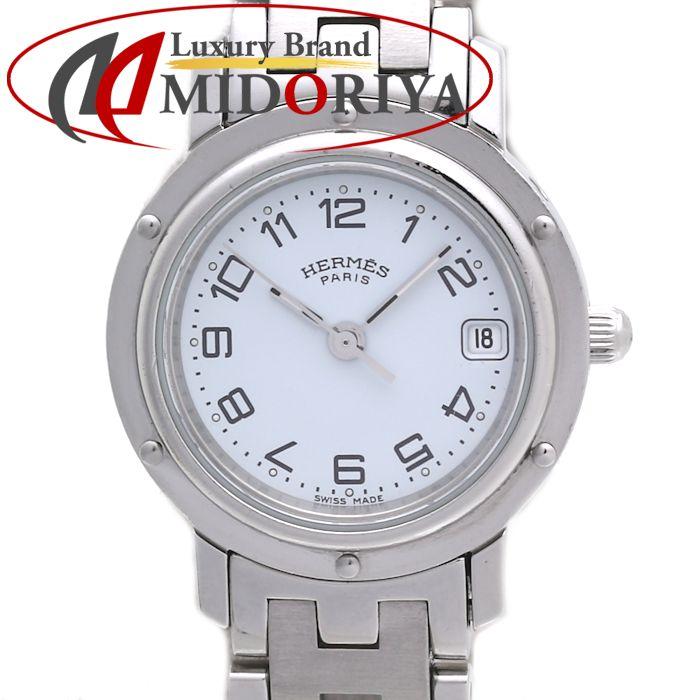 HERMES エルメス クリッパー CL4.210 ホワイト文字盤 クォーツ レディース /35932 【中古】 腕時計
