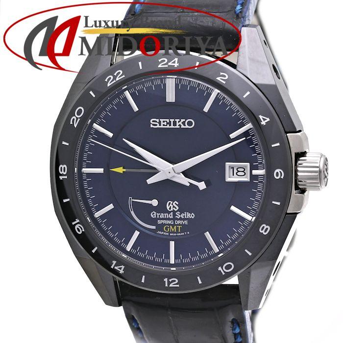 SEIKO セイコー グランドセイコー メカニカル スプリングドライブ GMT SBGE039 9R16 マスターショップ限定 GS メンズ /35956 【中古】 腕時計