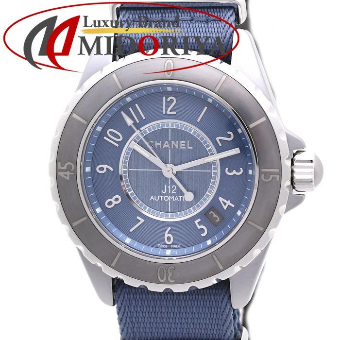 シャネル CHANEL J12 G.10 クロマティック 38mm メンズ H4338 チタンセラミック デイト ブルー 自動巻き /35978 【中古】 腕時計