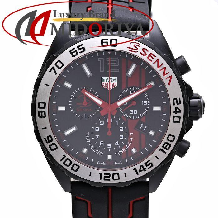 TAG Heuer タグホイヤー フォーミュラ1 アイルトン・セナ CAZ1019.FT8027 メンズ ラバー /35980 【中古】 腕時計