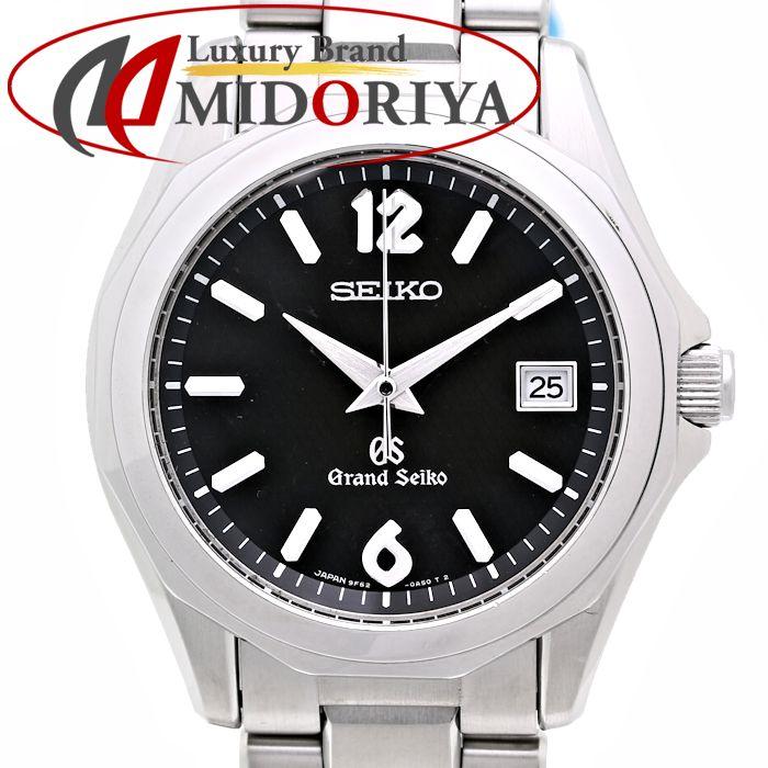 SEIKO セイコー グランドセイコー GS SBGX035 9F62-0A60 黒 クォーツ メンズ /35982 【中古】【外装磨き仕上げ済み】 腕時計
