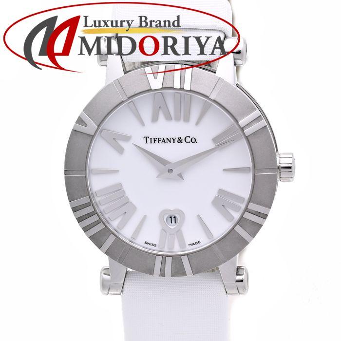 TIFFANY&Co. ティファニー アトラス Z1300.11.11A20A41A ハートデイト 白文字盤 クォーツ レディース /35983 【中古】 腕時計