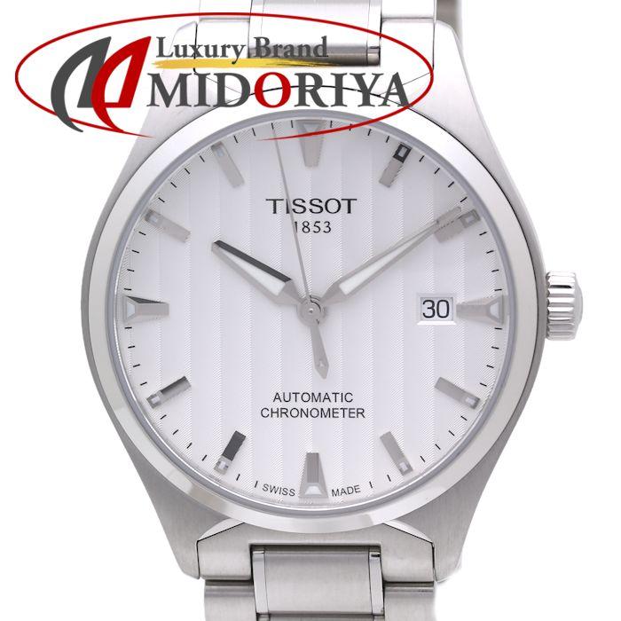 ティソ TISSOT T-クラシック T-TEMPO T060.408.11.031 SS メンズ シルバー 腕時計 自動巻き /36016 【中古】