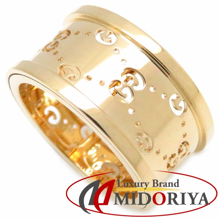 e5a29d494 Authentic GUCCI 18K Yellow Gold Icon Twirl Ring #10 /099656 FREE SHIPPING  ...