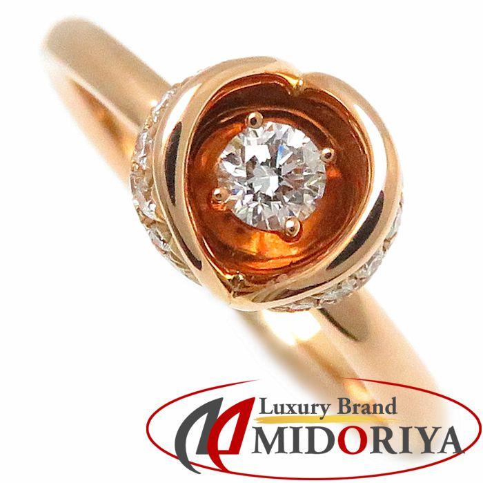 ダイヤモンドリング K18RG ダイヤモンド0.097ct/0.12ct 11.5号 18金ローズゴールド ピンクゴールド 指輪 レディース ジュエリー/63320【中古】