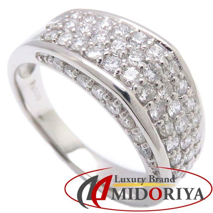 ダイヤモンドリング Pt900 ダイヤモンド1.00ct 14号 プラチナ 指輪 レディース ジュエリー/63334【中古】