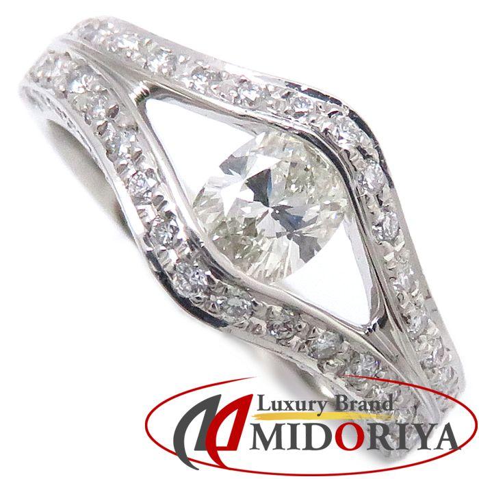 ダイヤモンドリング Pt900 ダイヤモンド0.44ct/0.45ct 10号 プラチナ 指輪 レディース ジュエリー/63341【中古】P_10