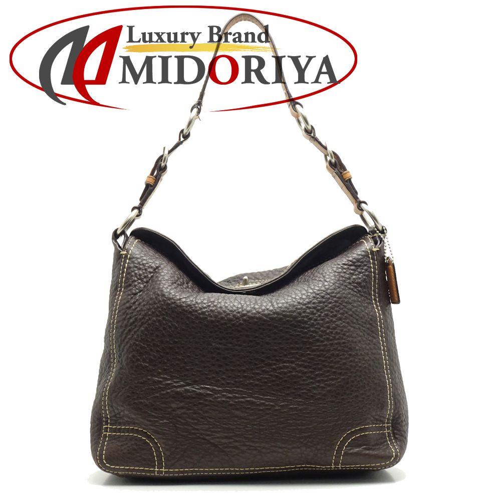 ecddd4c4157a Coach COACH F12338 one shoulder bag leather dark brown camel outlet /053338