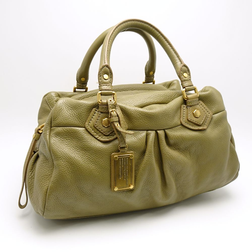 3913b34a40 ... Authentic MARC BY MARC JACOBS Classic Q Baby Groovee Handbag M3111137  Leather Olive /053339 FREE ...