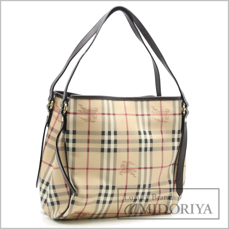 Burberry shoulder bag PVC leather check pattern   56854 beige Brown BURBERRY 704e85baa5